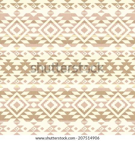 Tribal geometric pattern - stock vector