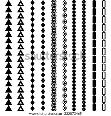 tribal geometric pattern aztec navajo ornament stock vector 332873465 shutterstock. Black Bedroom Furniture Sets. Home Design Ideas