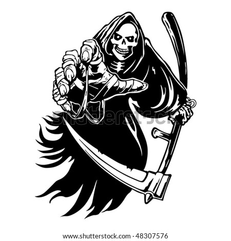 Tribal grim reaper - stock vector