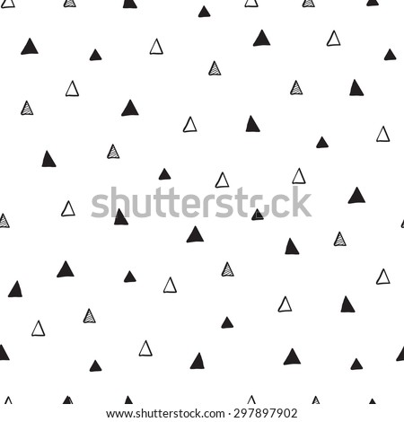 Tribal hand drawn background, ethic, doodle. Endless texture can be used for printing onto fabric and paper or invitation. Abstract geometric shapes - stock vector