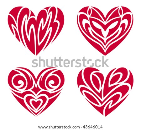 Tribal Hearts – Tattoo Set