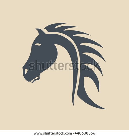 Tribal horse head design, perfect for logo or tattoo vector