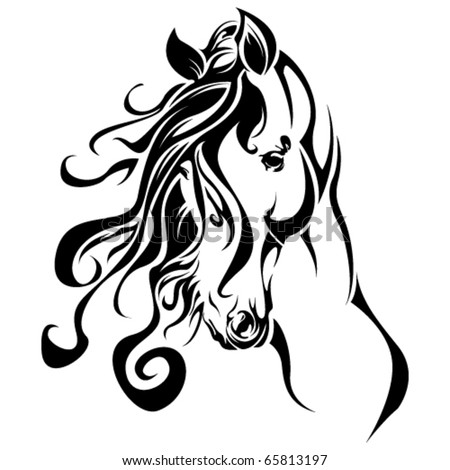 horse tattoo stock images, royalty-free images & vectors
