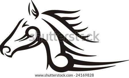Tribal Horse Vector Illustration Great For Vehicle Graphics Stickers