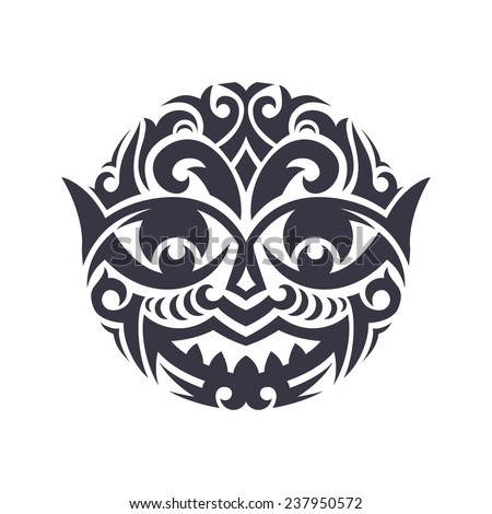 Tribal mask made in vector. Traditional totem symbol isolated.  - stock vector