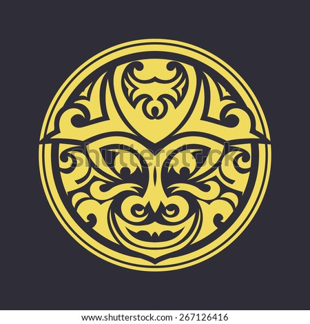 Tribal mask made in vector. Traditional totem symbol isolated.
