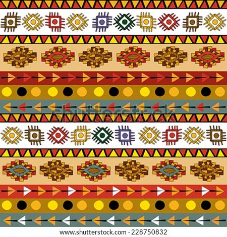 Tribal motif seamless pattern design - stock vector