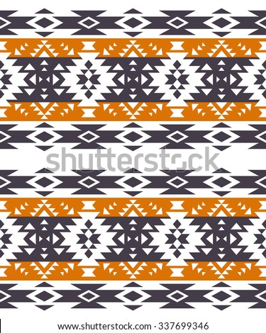 tribal navajo seamless pattern. aztec abstract geometric art print. ethnic hipster backdrop.  Wallpaper, cloth design, fabric, paper, wrapping, postcards, textile.  - stock vector