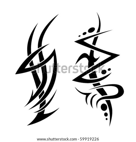 Tribal set - stock vector