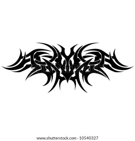 Tribal Tattoo Armband - stock vector