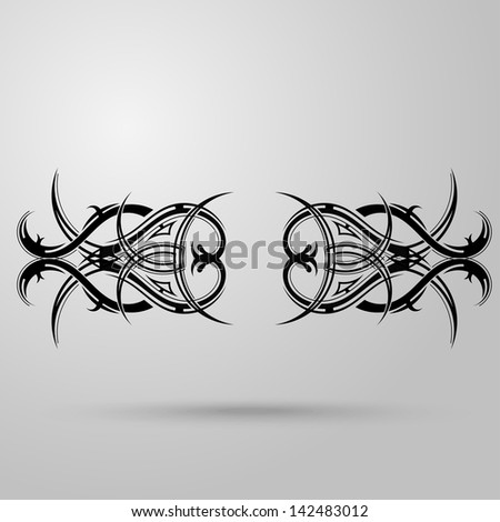 tattoo design girls lower back tattoo stock vector 596371700 shutterstock. Black Bedroom Furniture Sets. Home Design Ideas