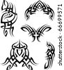 Tribal Tattoo Set - stock vector