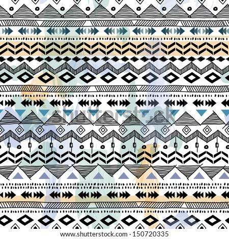 Tribal Vector Seamless Background Stock Vector 150720335