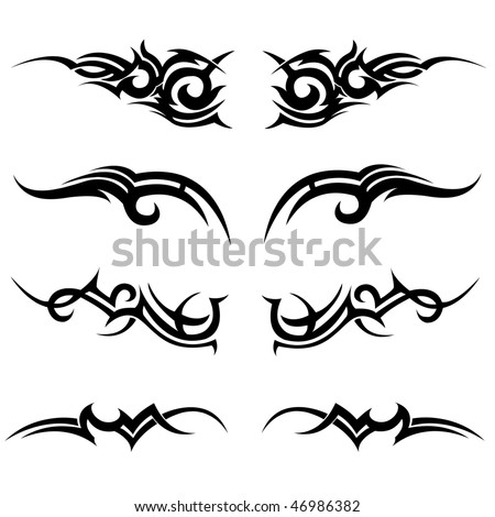tribal vector set - stock vector