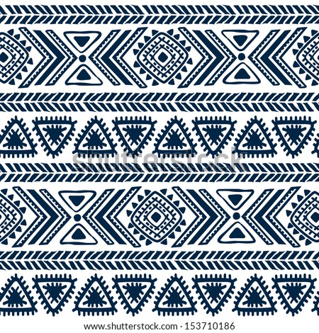 Tribal vintage ethnic seamless  - stock vector