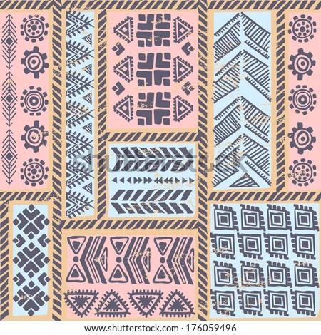 Tribal vintage ethnic seamless  - stock vector