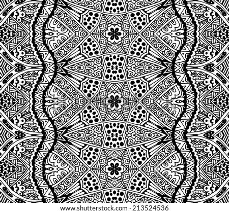 Tribal vintage ethnic seamless pattern tribal ornamental graphic - stock vector