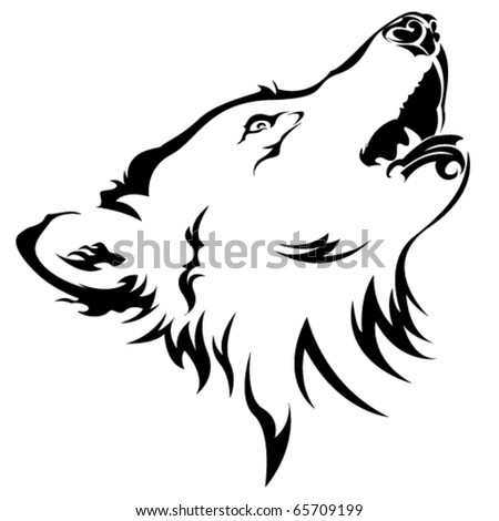tribal wolf stock vector 65709199 shutterstock. Black Bedroom Furniture Sets. Home Design Ideas