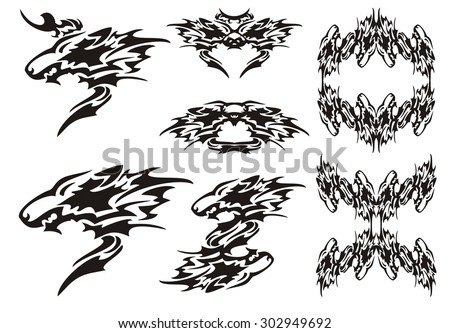 tribal wolf symbols tattoos and wolves frames - Wolf Picture Frames