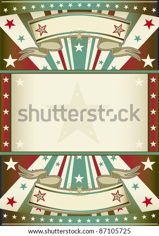 tricolor background with frame. A patriotic vintage poster with a large frame for your message