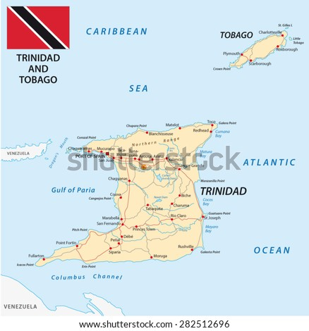 Trinidad And Tobago Map Stock Images RoyaltyFree Images - Trinidad map