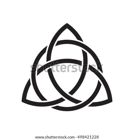 Trinity Knot Triquetra Ancient Celtic Symbol Stock Vector 498421228