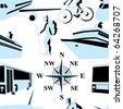 Trip. Vector illustration. Seamless. - stock vector