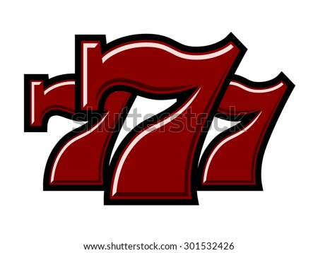 Triple seven stock images royalty free images vectors - Lucky number 7 wallpaper ...
