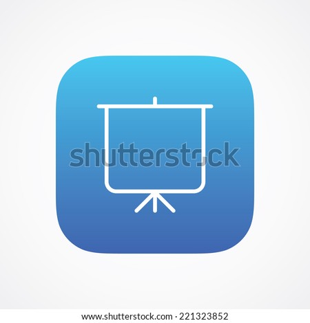 Tripod Project sign pictogram. Vector symbol icon. Simple flat metro design style. ESP10 - stock vector