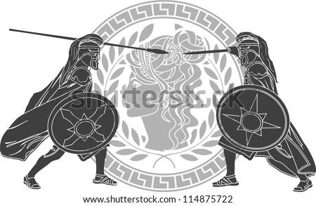 trojan war. third variant. vector illustration - stock vector
