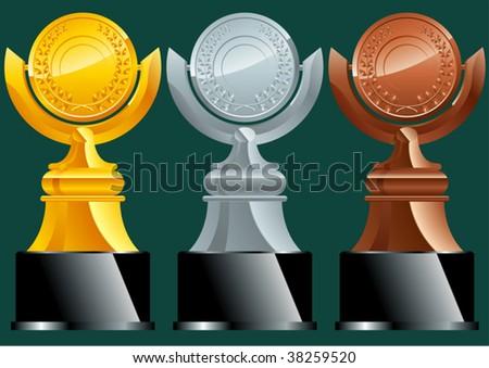 trophies - stock vector