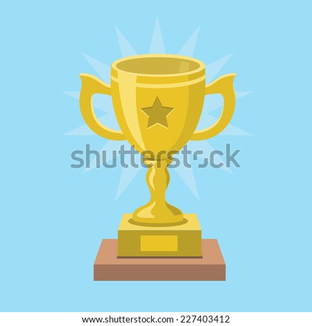 Trophy and awards black icons isolated on white - stock vector