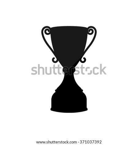 Trophy  - black vector icon - stock vector