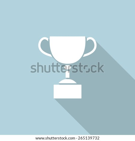 trophy cup flat icon. vector illustration - stock vector