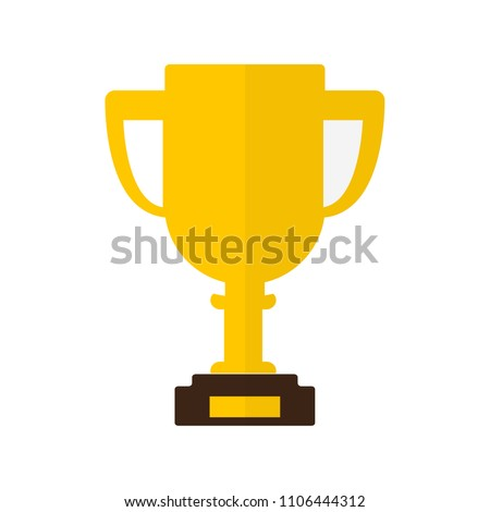 Trophy Icon In Flat Style Isolated Vector Illustration On White Transparent Background
