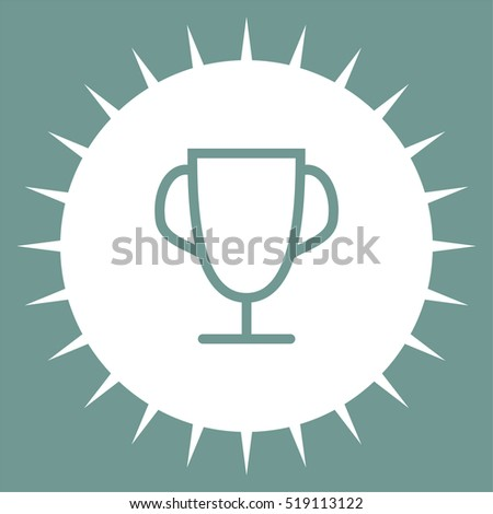 Trophy line vector. Winner cup icon. First place award sign. Victory achievement line symbol.