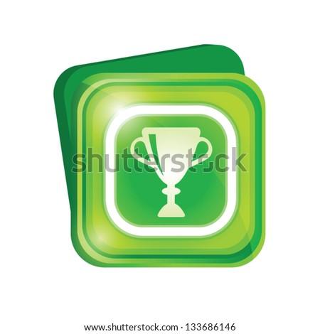 Trophy sign - stock vector