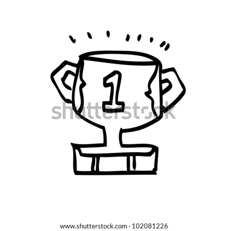 trophy winner illustration - stock vector