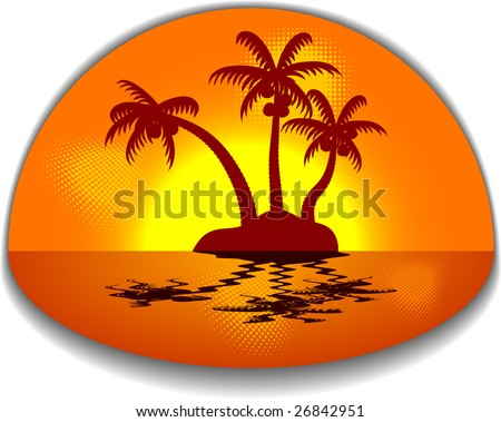 Tropical abstract backdrop. Vector illustration.