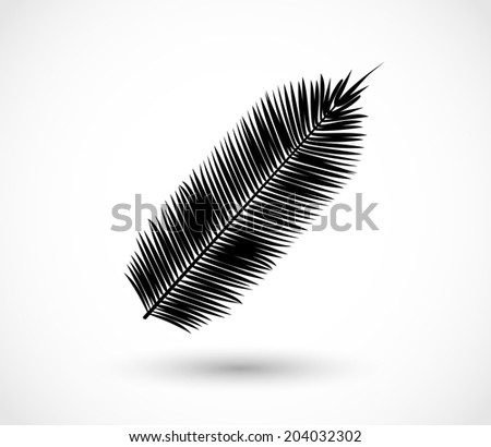 Tropical exotic leaf shape vector - stock vector