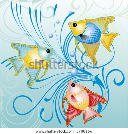 tropical fish - background, vector