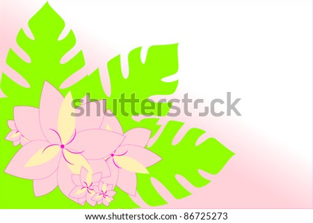 Tropical flower background - stock vector