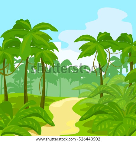 vector scenery tropical - photo #48