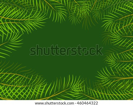 tropical jungle with leaves background