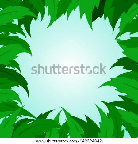 tropical leaf leaves tree green - stock vector