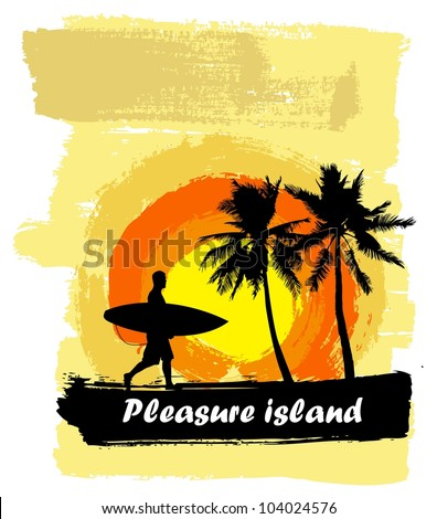 Tropical paradise - stock vector