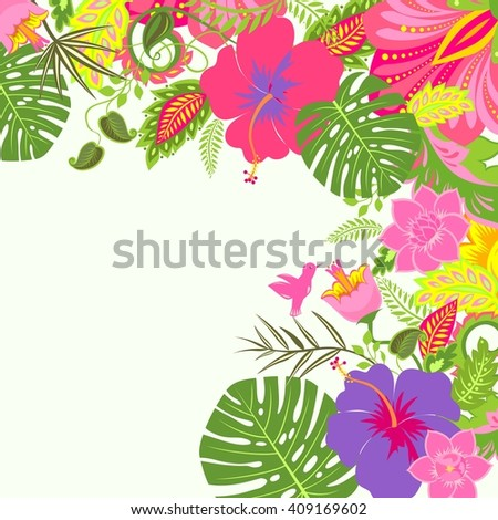 Tropical summery background - stock vector