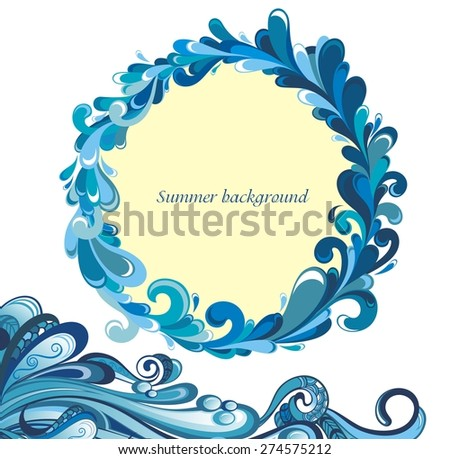 Tropical water background - stock vector