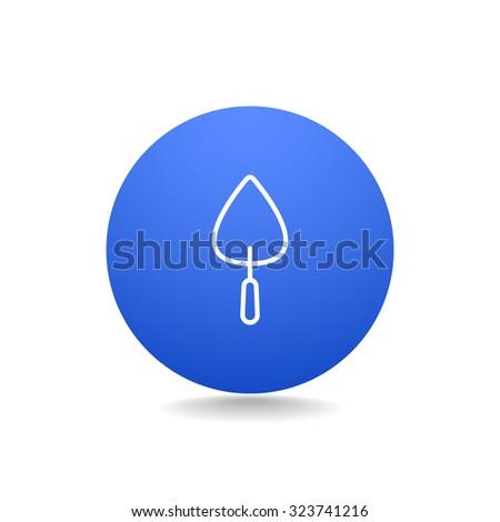 trowel icon - stock vector