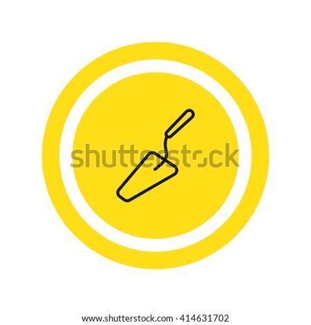 Trowel Icon Vector. Trowel Icon JPEG. Trowel Icon Object. Trowel Icon Picture. Trowel Icon Image. Trowel Icon Graphic. Trowel Icon Art. Trowel Icon EPS. Trowel Icon JPG - stock vector